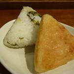 京都 錦 中央米穀 - 私はすぐきと焼きおにぎり