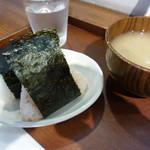 京都 錦 中央米穀 - 夫はお味噌汁をプラス
