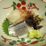 杢兵衛 - 鯛、秋刀魚、つるむらさき