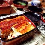 冨久家 - 食べかけでごめんなさい。 うな重並  2900円 美味しかったですよ!