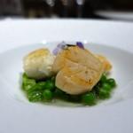 I・K・U 青山 - 平目と帆立のロースト ポワローとジャガイモのソース
