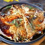 あたりや - 特製モダン焼(¥977)✿(豚肉・イカ・えび・玉子入り)