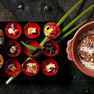 土鍋炊き天然鯛めしをメインに贅沢なランチをご堪能頂けます