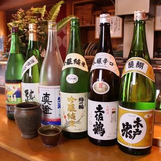 千葉県のお酒を中心に一本づつ吟味したものを提供