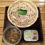 武州しこめん - 201607 肉汁うどん860円、うどん大盛り210円