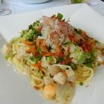 レストラン タガミ - 小柱と桜エビの和風スパゲティ