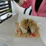 レストラン タガミ - 白身魚のオイルコンフィ ペノーソース