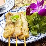 ムー・サテー(豚の串焼き)3p
