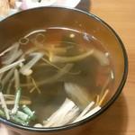 G.Gキッチン - 和定食のスープ