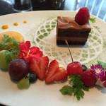 アクアリウム at ALFRED DUNHILL - ケーキセットのケーキ