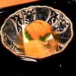 銀座 とよだ - 胡麻豆腐に雲丹の冷製
