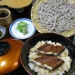 閑清居 - そば膳「うな丼」¥1,380    国産うな丼と、本格手打ち蕎麦が1度に楽しめる1品です。