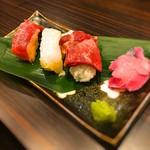 53435175 - 2016 桜肉の握り寿司