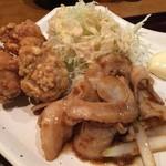 53435316 - 豚の生姜焼きと鶏の唐揚げ