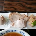桜木製麺所 - 特製の別皿♫2016/7