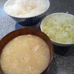 肉焼家 琉庵 - 日替わりスープ&気まぐれサラダ&ライス