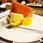 間々宮 - スイカ、パインアップル、オレンジ、羊羹