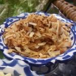 タイレストラン クンメー1 - ・ミエンカム ココナツ千切り炒め