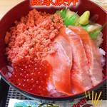海匠 丼丸 - 料理写真:鮭家族丼