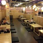 恵美須商店 - 掘りごたつ席は最大60名までOK