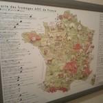 ネパリダイニング ダルバート - 何故か、フランスチーズのAOC地区が書いた物が貼ってありました。