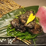 薩摩隼人 - 日向鶏の炭炙り焼き