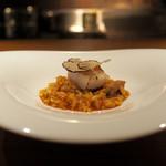 エニェ - ■イベリコ豚トントロと帆立のアロス トリュフ風味