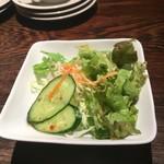 イゾルデ - 650円ランチのサラダの割りには野菜の種類も多い