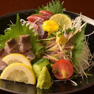 【自慢の一品】鮮魚のお刺身盛り合わせ