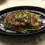 ふぁ-ま-ず・はうすア-ク - 黒豚ロース肉にんにく味噌焼