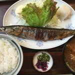 53452507 - 一福食堂・秋刀魚塩焼き豚汁ライス¥780