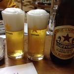 いろは亭 - 瓶ビール 赤星☆