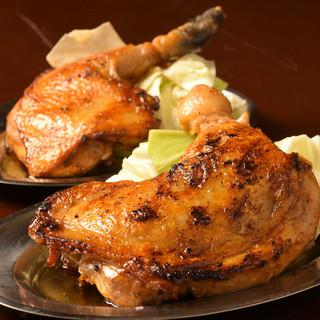 【看板メニュー】骨付き鶏もも焼き