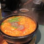 百済kudara - 最後はチゲとご飯を頂いて私は次の会議に迎いました。