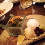 醸し屋 素郎slow - 海ぶどうのお造り…こちらにも酢飯が!