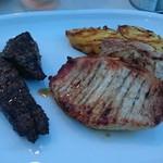バルバッコア ビアガーデン - シュラスコプレート(2) ポーク(豚肩ロース) アルカトラ(牛ランプ) 焼きパイナップル