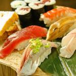 今日の寿司盛り(8カン)