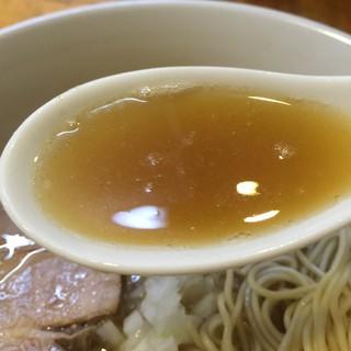煮干しそば 暁 - 【2016.7.7】鶏、豚の清湯スープに煮干し、枯れ節、昆布、二枚貝(蛤)のスープが冴える!