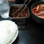 ラーメン朋 - ライスと漬物類 150912