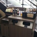 スターバックス・コーヒー 御器所駅前店 - 1階のコンディメントバー