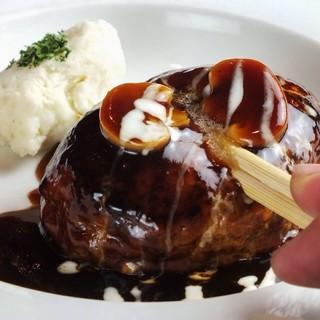 国産合いびき肉100パーセントのハンバーグ