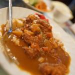マリブ喫茶 - カツカレー(サラダスープ付き
