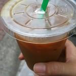 吉田パン - コンビニで買ったアイスコーヒーとの相性はバツグン