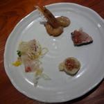 魚China YO - シェフお勧めのディナーコース 前菜