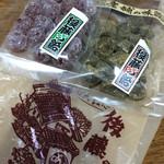 後藤の飴 - 左「トマト玉飴」、右「ほうじ茶飴」。 上質な素材を活かす技、美味し!