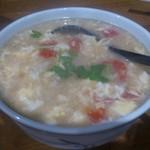 馬記 蒙古肉餅 - ・麺団スープ(小) 480円