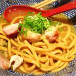 喜元門 - ☆海老混ぜそば☆スープ割り後