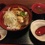あい庵 - 炙り鶏チャーシュー丼   700円