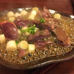 あい庵 - ハツと長ねぎの陶板焼き  600円