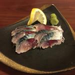 あい庵 - しめ鯖の刺身